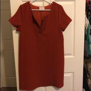 Boutique orange/rust color dress NWOT